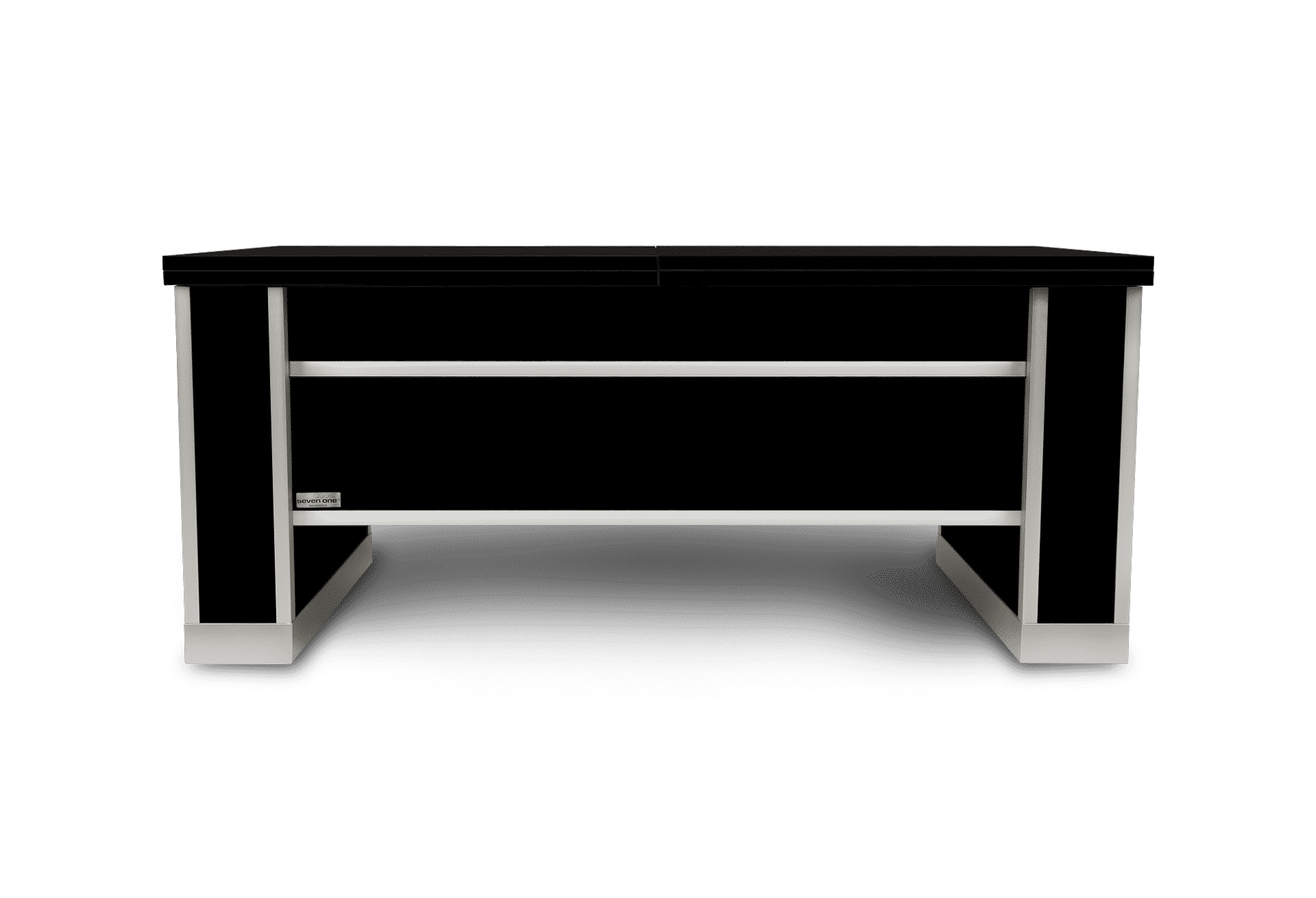 Mesa extensible y elevable negra