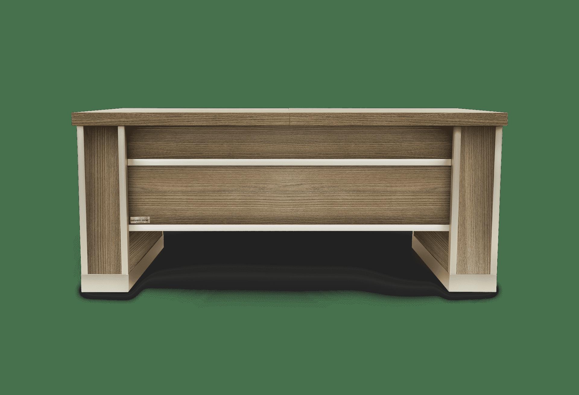 Mesa extensible y elevable madera olmo