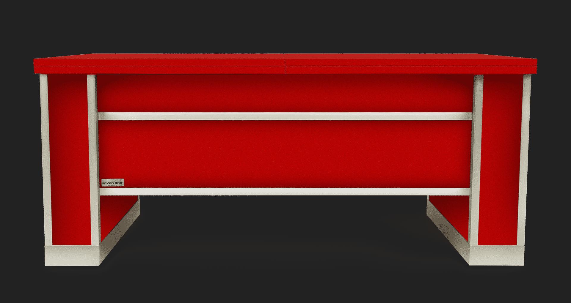 Mesa extensible y elevable roja