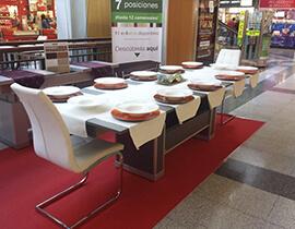 mesa comedor extensible hasta 12 personas